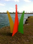 Farolillo<br />Steel sculpture made by Jaime Angulo<br />2011<br />Painted<br />Height 8 ft