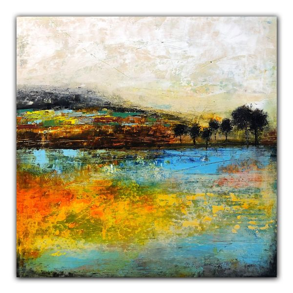 Letting Go Abstract landscape oil painting