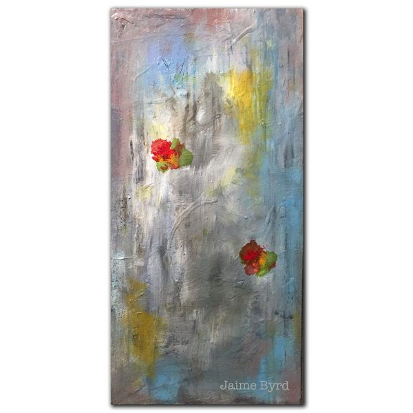 Acrylic abstract flower painting