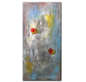 Small Things In BIg Ways abtract modern acrylic painting