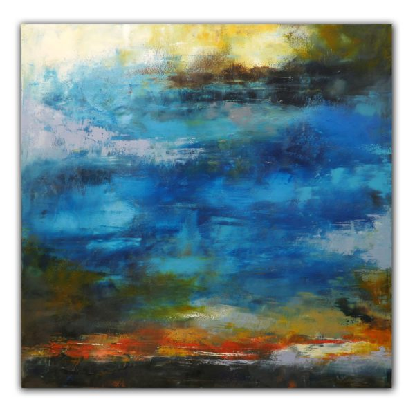 Southern Sunset - Abstract Art Oil Painting