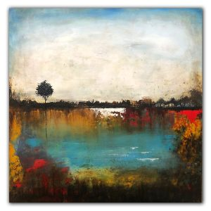 The Pond #2 - Oil and Cold Wax