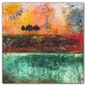 Consequences - Jaime Byrd Abstract landscape Oil Painting
