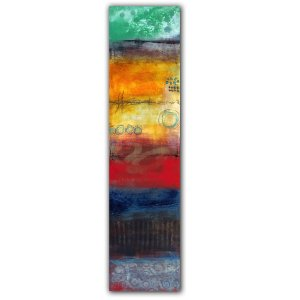Storyteller No. 2 - Jaime Byrd abstract oil and cold wax painting