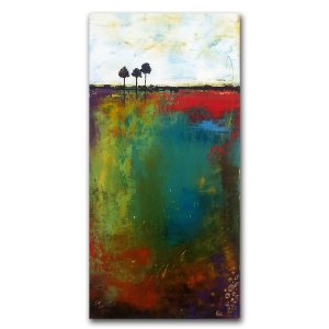 The Small Pond - Oil and Cold wax painting by Jaime Byrd