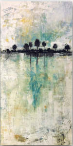 Day Dream - abstract oil and cold wax painting by Jaime Byrd