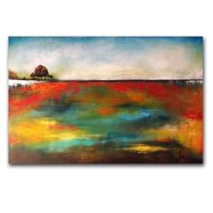 Simplicity - contemporary abstract landscape in oil and cold wax by Jaime Byrd