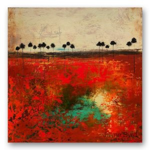 Leave No Trace - abstract oil and cold wax painting by contemporary artist Jaime Byrd