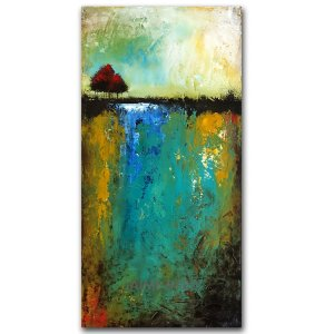 Spring Time - oil and cold wax abstract landscape by contemporary artist Jaime Byrd