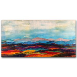 Memories of Appalachia - abstract landscape oil and cold wax painting by contemporary artist Jaime Byrd