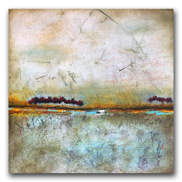 Transition - abstract landscape oil and cold wax painting by contemporary artist Jaime Byrd