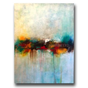 Fortunes - abstract oil and cold wax painting by contemporary artist Jaime Byrd