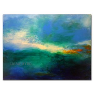 Morning Walk - abstract painting in oil and cold wax by contemporary artist Jaime Byrd