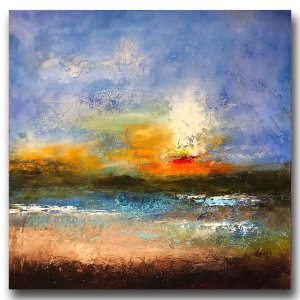 Morning Light No. 2 - abstract oil and cold wax painting by contemporary artist Jaime Byrd