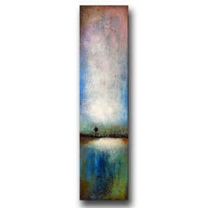 Summer's End - abstract oil and cold wax painting by contemporary painter Jaime Byrd