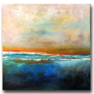 Ocean sea painting with water