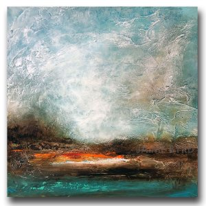 Abstract landscape with clouds and water