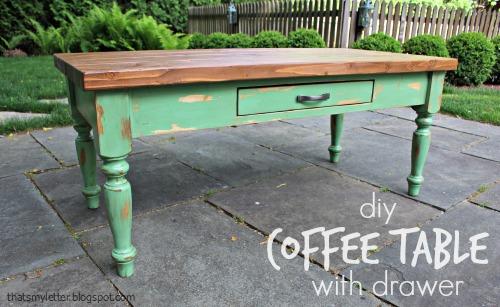 diy coffee table with drawer jaime