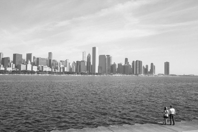 chicago skyline engagement photos