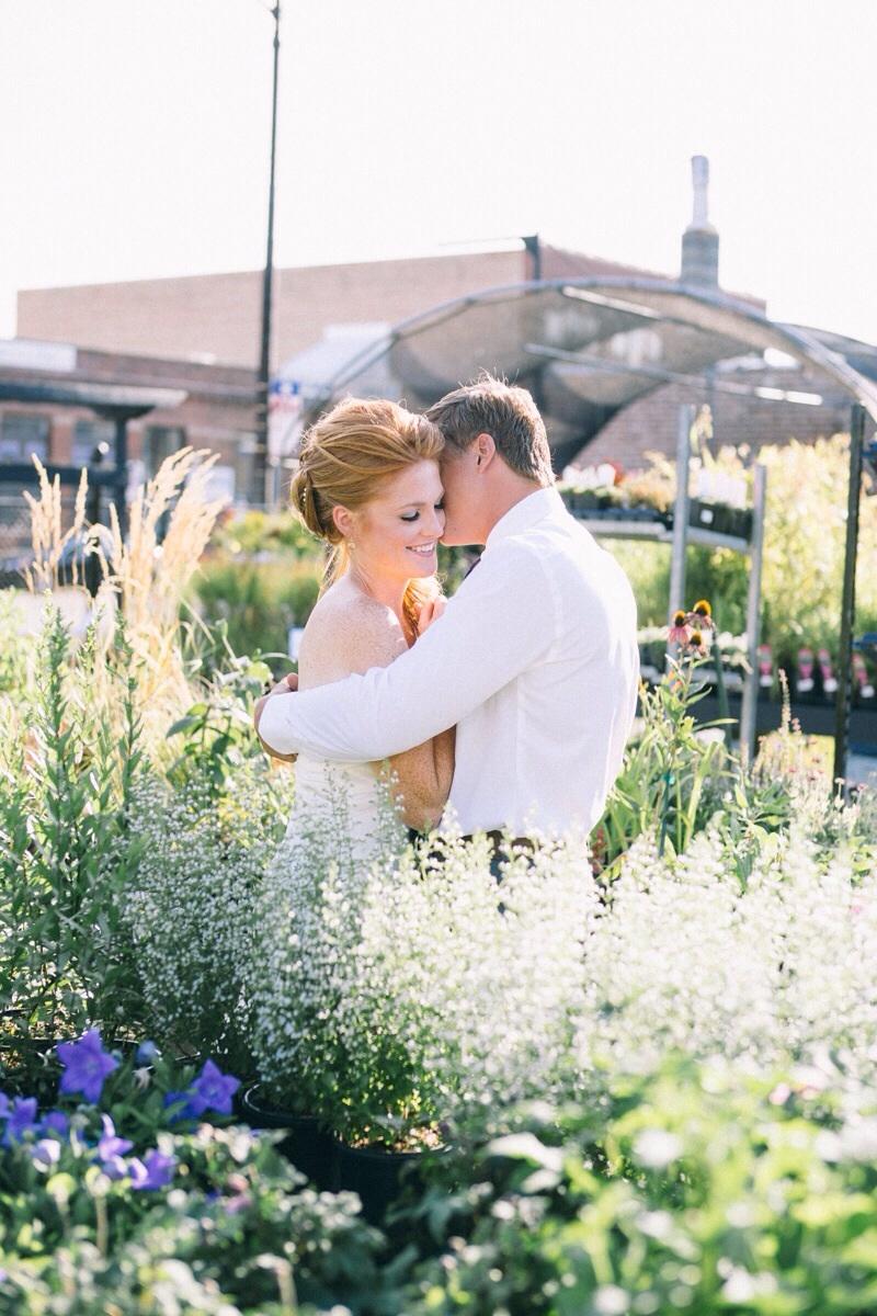 Chicago garden wedding pictures