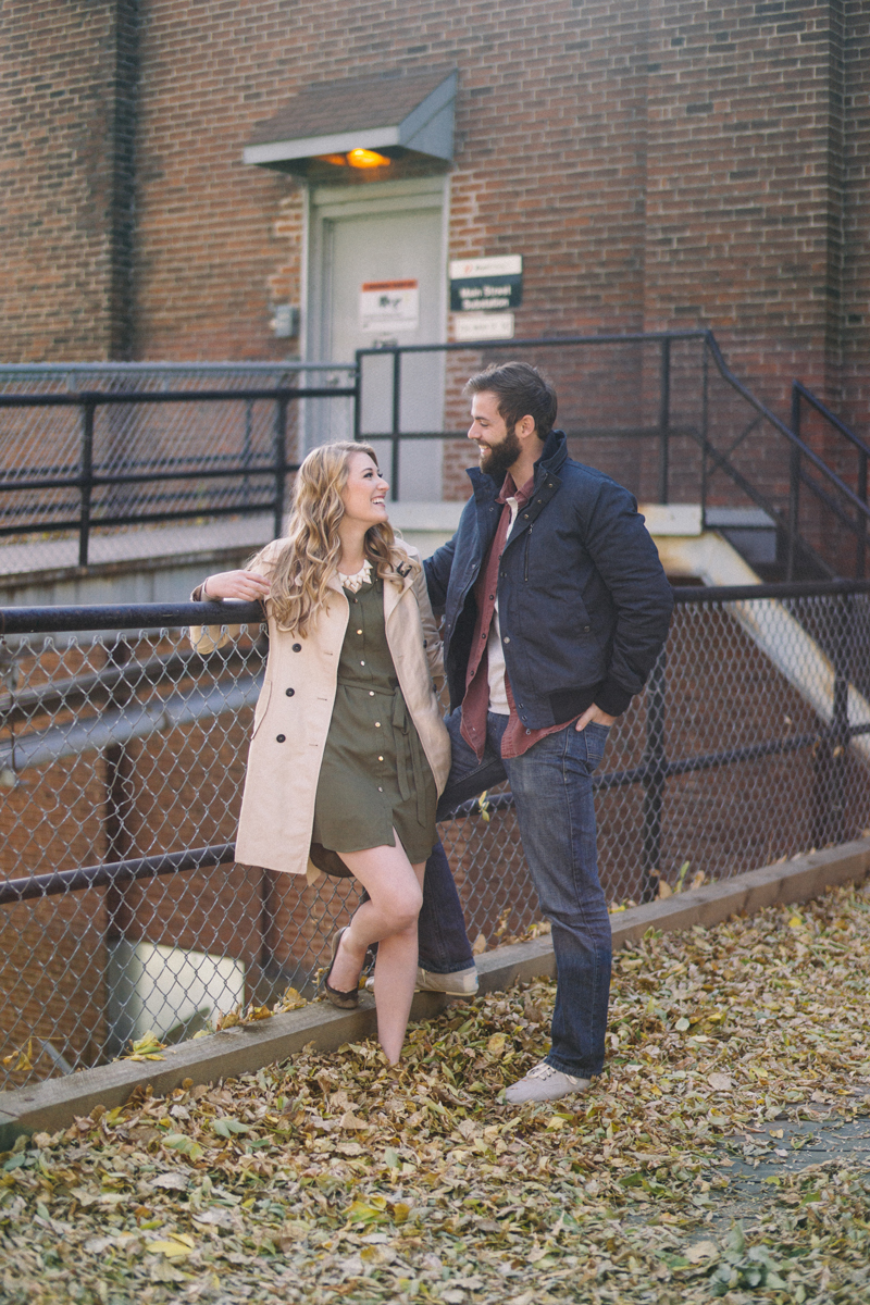 minneapolis fall engagement photos