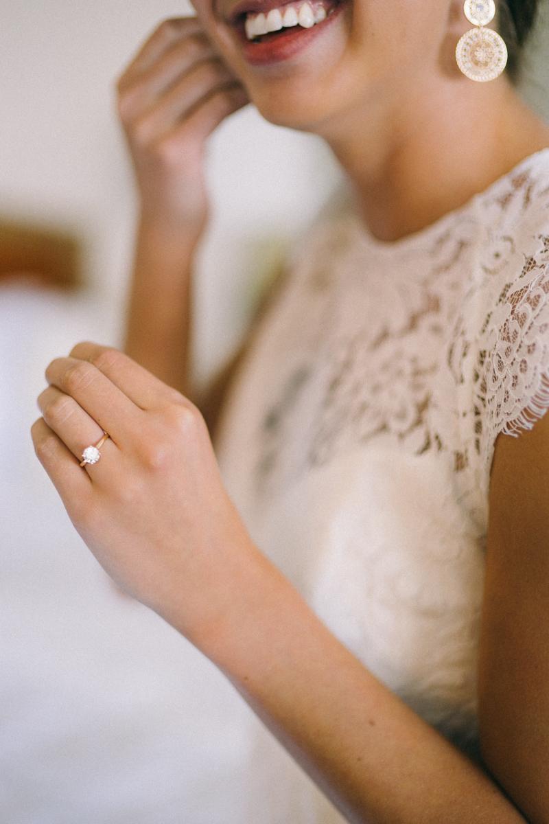 Bride getting ready for St. Paul wedding