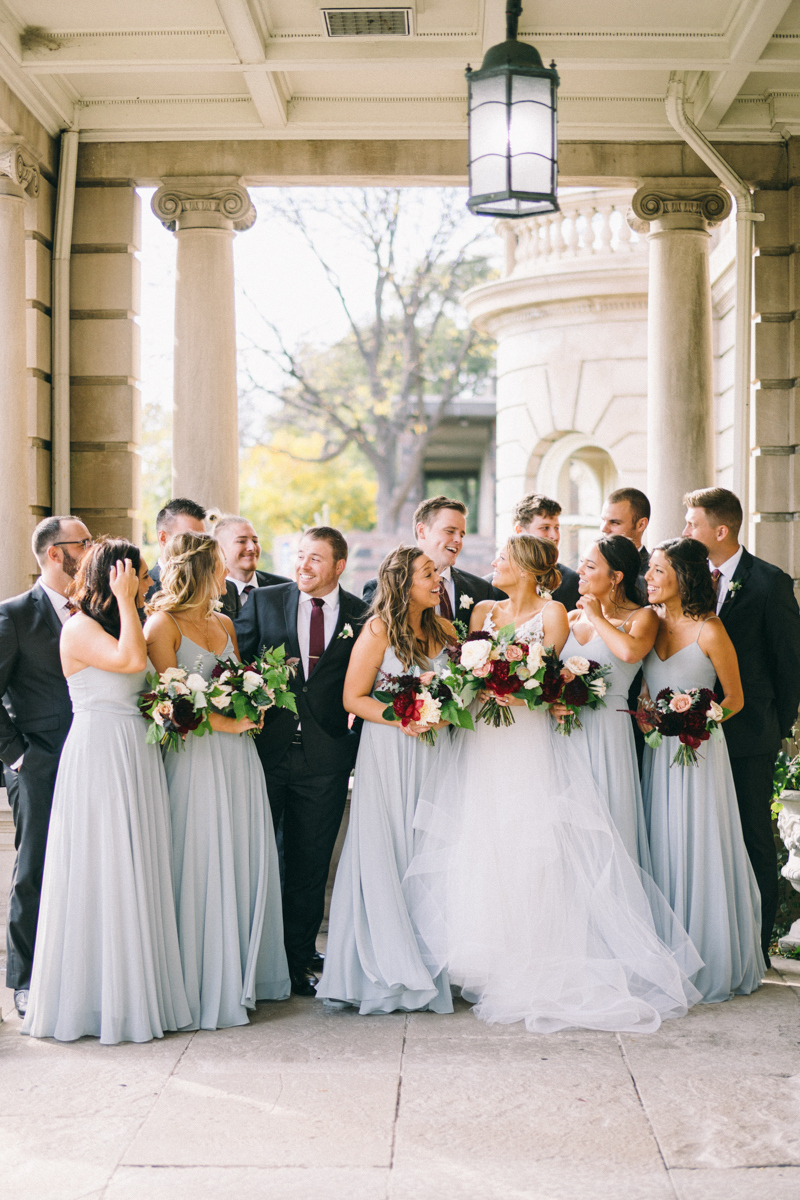 Fall romantic wedding at mansion