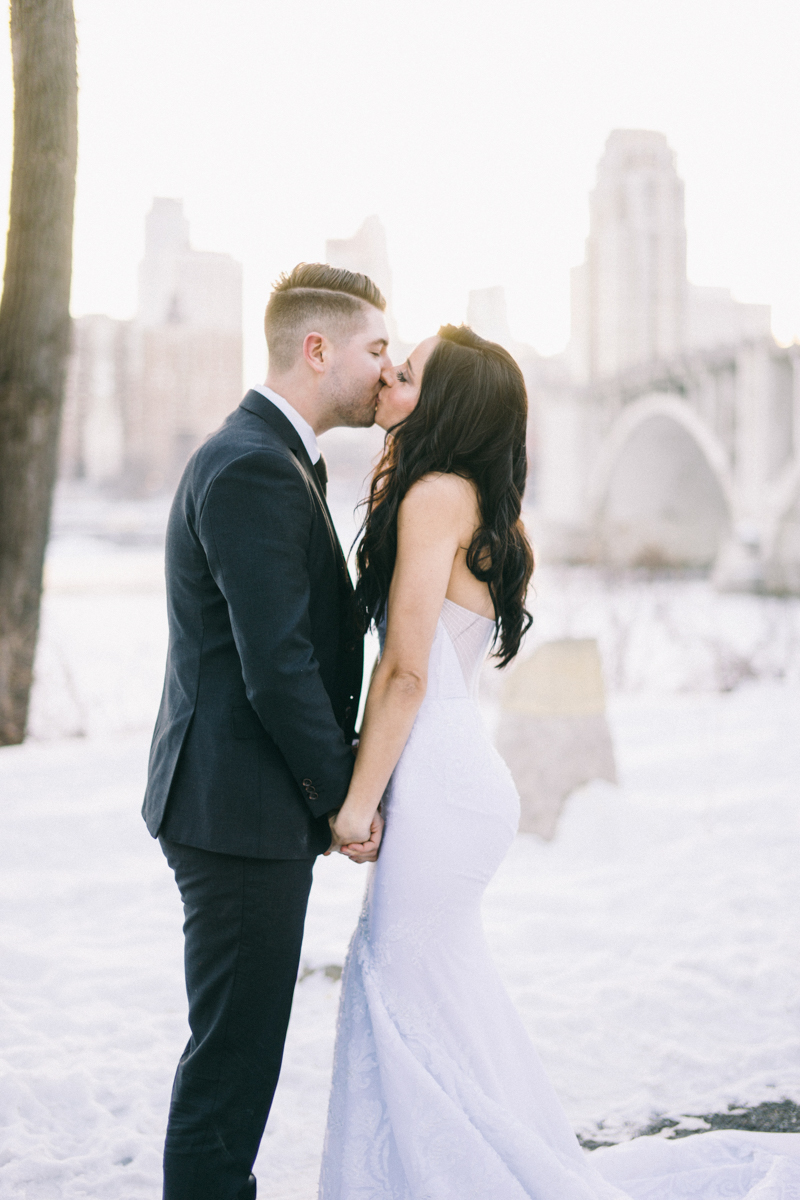 winter modern wedding
