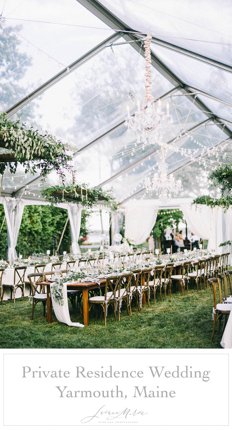 private residence tented wedding yarmouth maine