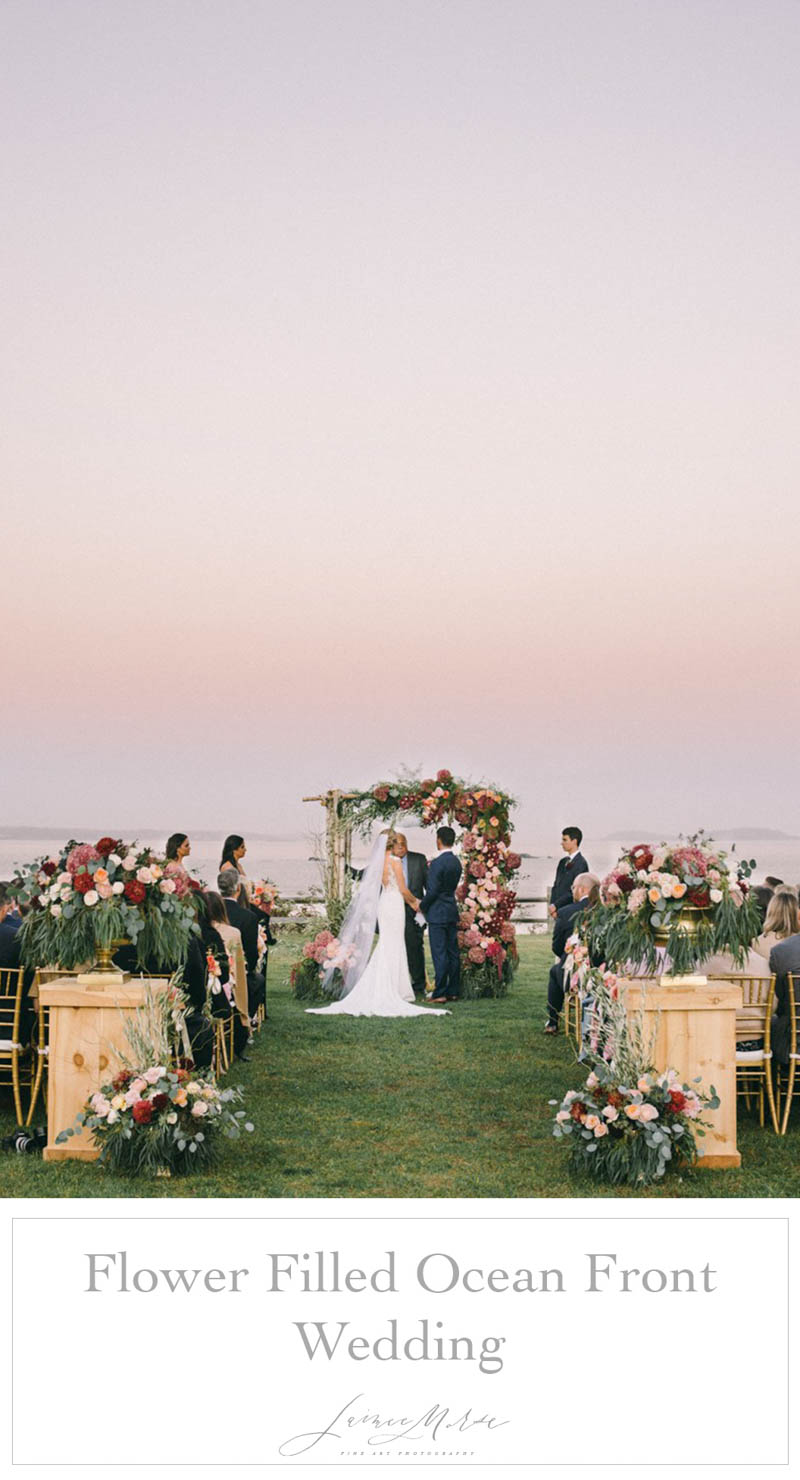 flower filled ocean front wedding scarborough maine