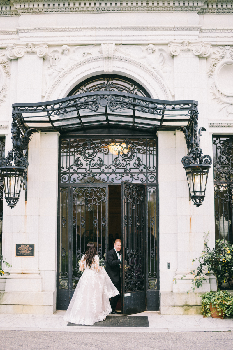 Rosecliff Mansion black tie wedding Newport Rhode Island