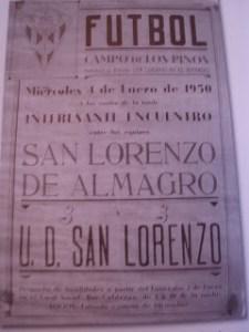 Cartel San Lorenzo Almagro