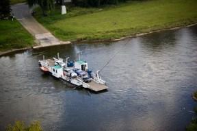 Ferry sobre el río Weser