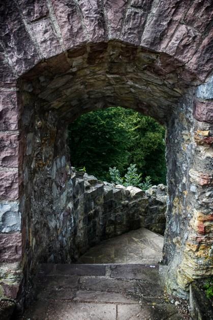 Escaleras en el Castillo de Polle