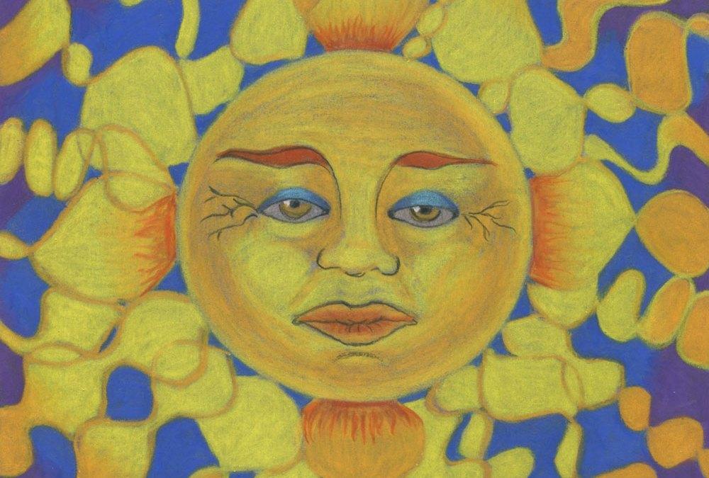 """Sun Painting """"Old Man Sun"""""""