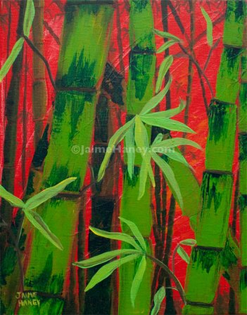 peek into a bamboo forest