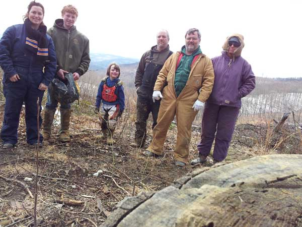 The whole gang on top of a mountain at a lookout spot in Appalachia Mountains in Northeastern Tennessee