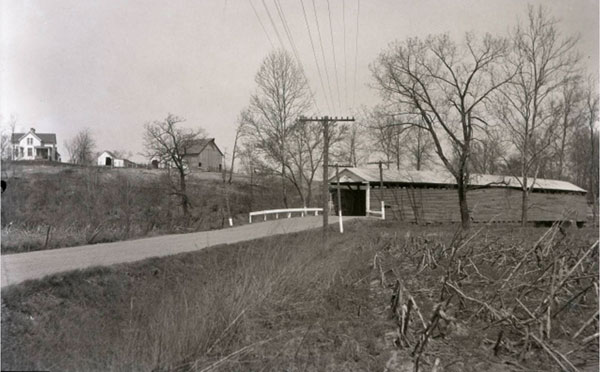 Old Covered bridge on Old Plank Rd. razed 1926