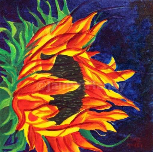 sunflower painting