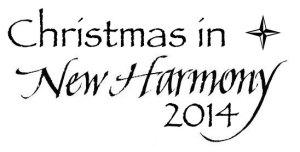 Christmas in New Harmony 2014 logo