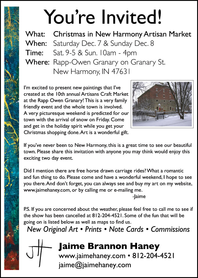 your personal invitation to Christmas in New Harmony 2013!