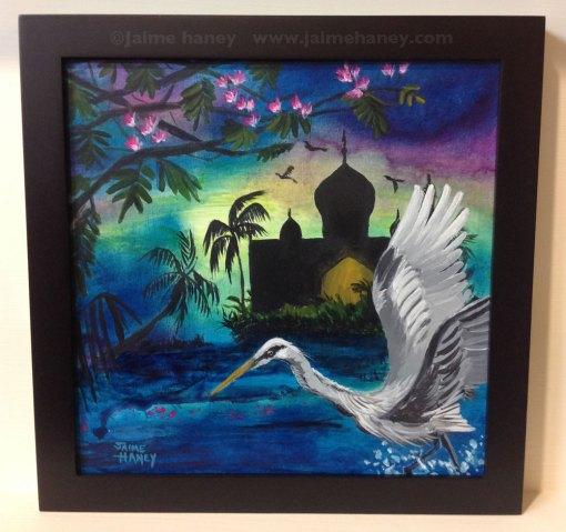 Night Magic framed original painting