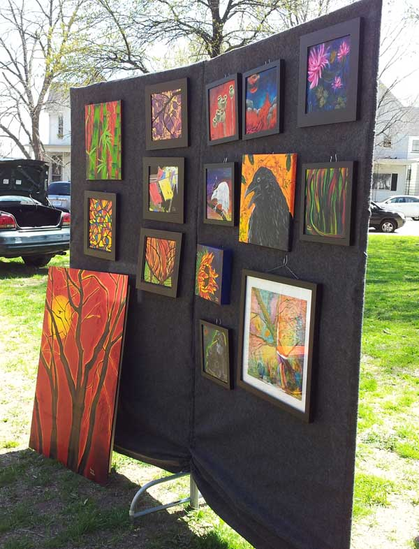 My booth at Earth Day Art Crawl 2014