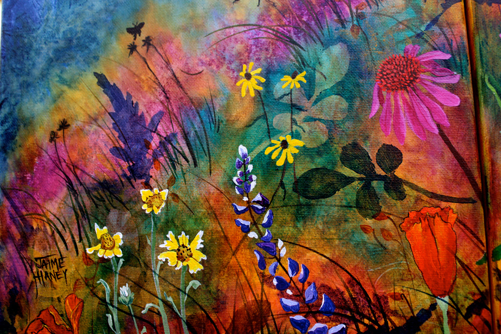 "New double canvas painting ""Abundant Blessings"" sold."