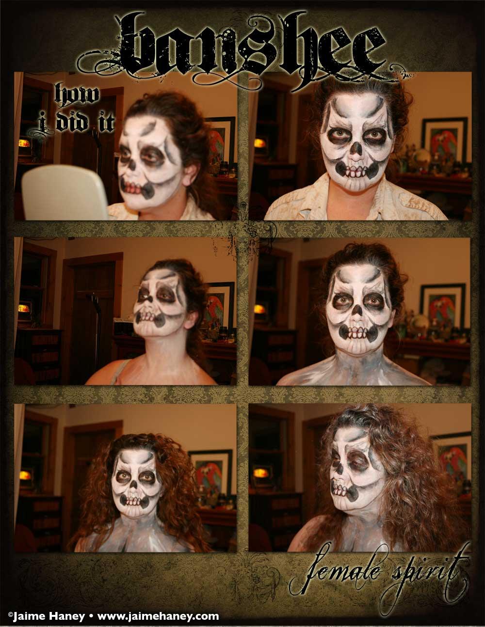 Banshee female spirit makeup tutorial part 2