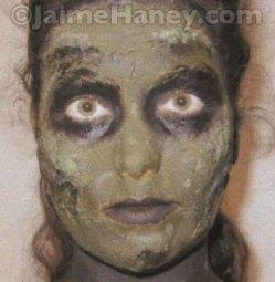 Close up of makeup