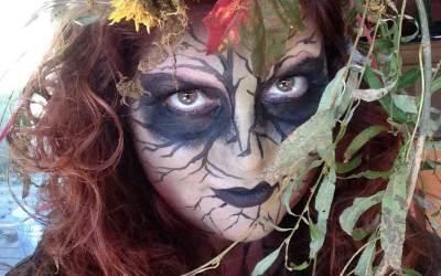 Tree Spirit Halloween Face paint tutorial