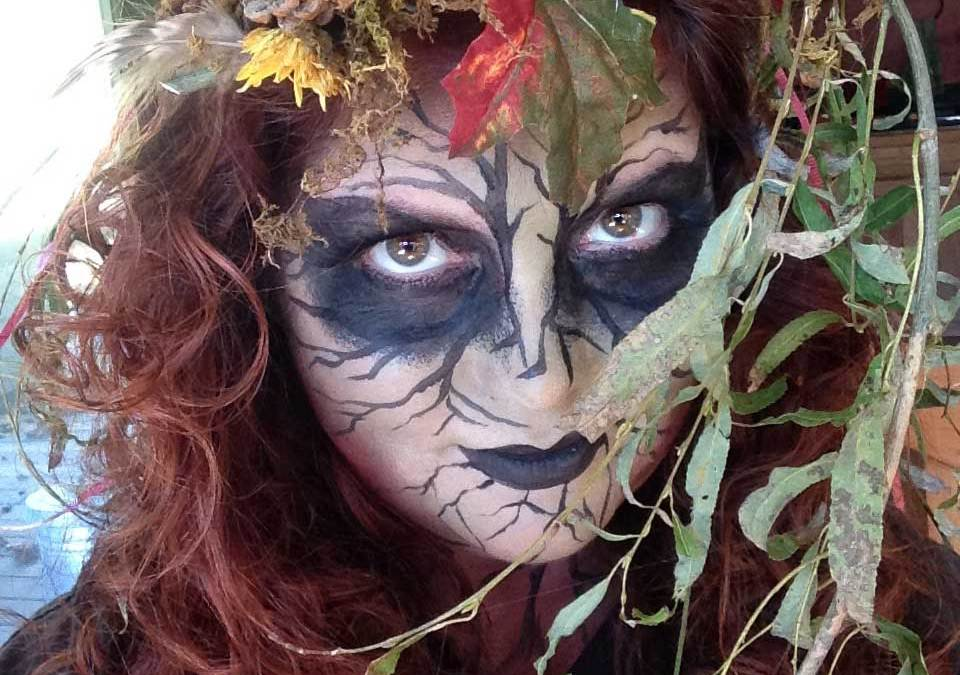 Tree Spirit Halloween Face paint CostumeTutorial