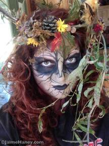 Tree Spirit Halloween Face paint tutorial