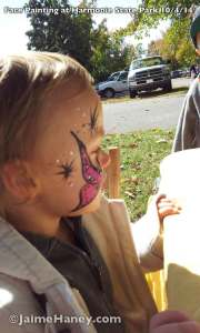 First face painting on 3 year old